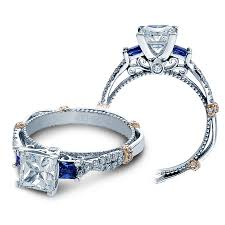 sapphires rings images Verragio engagement rings sapphire and diamond mounting jpg