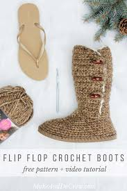 ugg crochet slippers sale ugg style crochet boots with flip flop soles free pattern