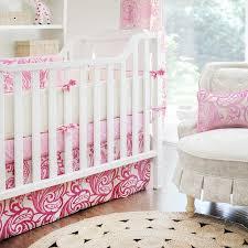 pink damask baby bedding