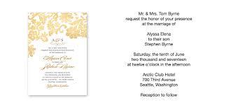 wedding invitation format wedding invitations wording sles vertabox