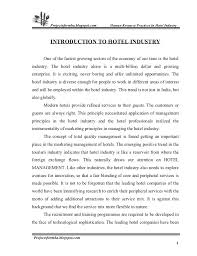 hr management report template a project report on hr practice in hotel industry