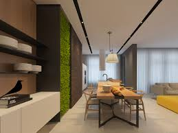 Wishbone Home Decor Modern Dining Decor With Vertical Green Wall Garden Feat Wishbone