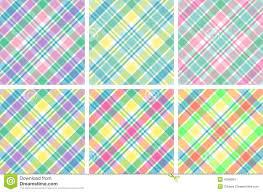 Plaids Six Pastel Plaids Stock Images Image 4556684