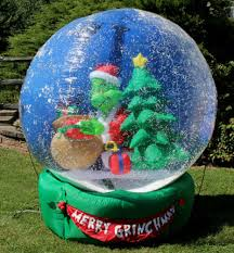 Blow Up Christmas Decorations Grinch by Huge Inflatable Grinch Wow Your Neighbors This Year