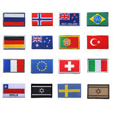 Europe Country Flags Countries Flag Patch Israel Russia Germany Brazil Norway France Eu