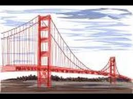 how to draw the golden gate bridge youtube