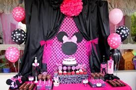 minnie mouse party supplies minnie mouse party decorations with black and pink color theme