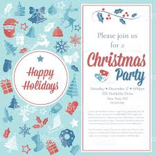 christmas party invitation template stock vector art 605988486