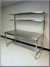 stainless steel butcher table kitchen real white theme wall with stainless steel butcher block