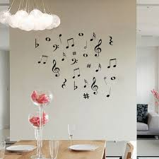 music note home decor diy music musical notes variety pack wall stickers vinyl