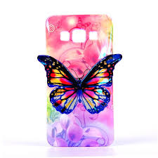 for samsung a3 2015 cover 3d butterfly design colorful skin