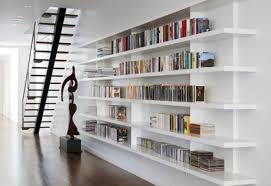 Wall Shelves Design For Kitchen Amazing Wall Mounted Library Shelving 54 On Stainless Steel Wall