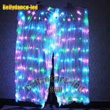glow show led silk fan veils 160 leds glow show belly buy now