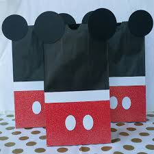 mickey mouse favor bags set of 10 mickey mouse goody bags loot bags mickey mouse party