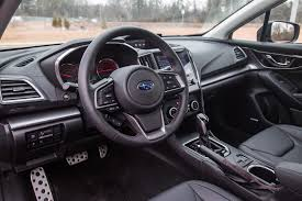 subaru car interior review 2017 subaru impreza sport tech canadian auto review
