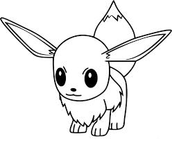 coloriage evoli pokemon go à imprimer