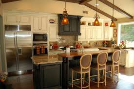 wood countertops 2 tier kitchen island lighting flooring