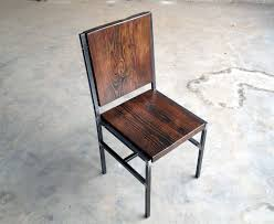 Reclaimed Wood Chairs Crafted Chair Stool Made Of Reclaimed Wood And Steel With Iron