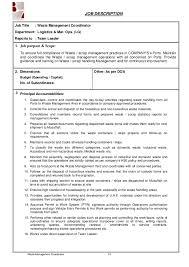 Crew Member Job Description Resume Team Leader Job Description Chic Inspiration Mcdonalds Resume 14