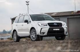 red subaru forester 2017 2016 subaru forester ts sti review video performancedrive