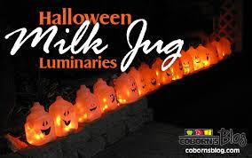 halloween milk jug luminaries cobornsblog com