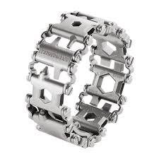 bracelet leather man silver images Leatherman tread bracelet silver png