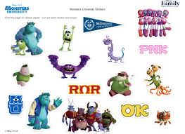 Monsters University Halloween by Monsters University Stickers Disney Family