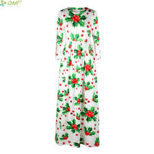 online shop red christmas ball print maxi dress christmas party