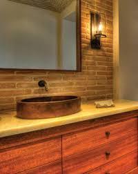 Western Bathroom Ideas Impressive 60 Brick Bathroom Decorating Design Ideas Of Best 25