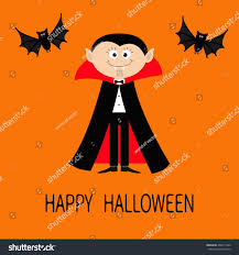 happy halloween cute images count dracula wearing black red cape stock vector 469211942