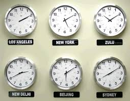 Office Wall Clocks Brg Analog Time Zone Clocks 2 4 Ghz Wireless Clocks Available In