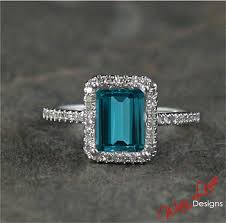 london blue topaz u0026 diamond halo ring 2 36 ct by wanlovedesigns