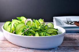 cucumber mint salad with thai dressing flavour and savour