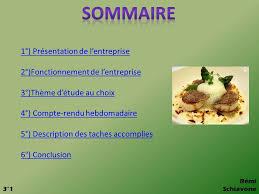 stage en cuisine gastronomique l inedit rapport de stage en entreprise au restaurant ppt télécharger