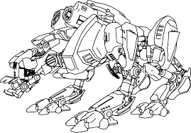 advanced robot coloring page wecoloringpage