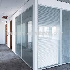 stores de bureau modulaire mur de bureau de division insonorisées verre cabine murs