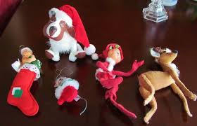 group five 1957 1981 annalee reindeer elf baby stocking