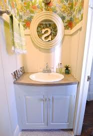 fun bright makeover for powder room hometalk