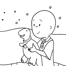 caillou coloring pages fablesfromthefriends com