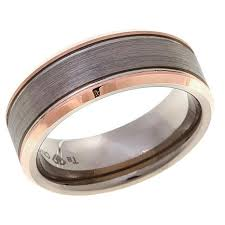 8mm ring tantalum rosetone and gray brushed 8mm wedding band ring 8331445
