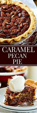 this salted caramel pecan pie from paula deen has a caramel