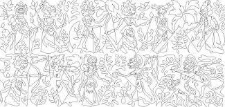 indonesian pattern 22 indonesian puppet set meadowlyon designs