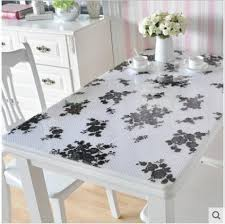 Plastic Table Runners Class Table Mat Transparent Plastic Table Cloth Modern Design
