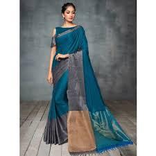Buy Green Plain Cotton Silk Cotton Silk Sarees Online Buy Cotton Silk Sarees For Women In