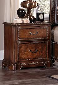 Cherry Nightstand With Drawers Homelegance Brompton Lane Night Stand With Hidden Drawer Cherry