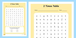 Multiplication Time Tables 2 Times Table Activity Sheet 2 Times Tables Counting 2s 2s