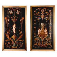bureau d ude m anique lyon 1stdibs com pair of 18th century painted panels from a