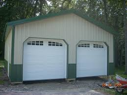 can a pole barn garage be attached to a house