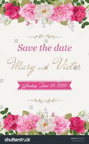Cards For Wedding Invitations Wedding Invitation Cards Flower Use Boarding Stock Vector
