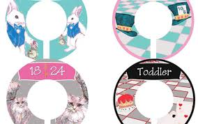 Baby Clothes Dividers Custom Baby Closet Dividers Alice In Wonderland Nursery Infant